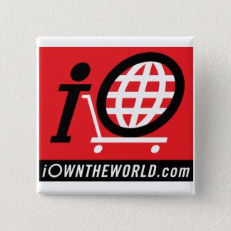 Bóton Quadrado 5.08cm botão quadrado do iOwnTheWorld