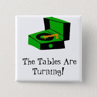 Bóton Quadrado 5.08cm Botão retro do jogador gravado