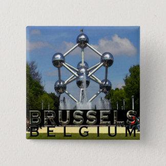 Bóton Quadrado 5.08cm Bruxelas