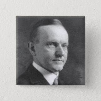 Bóton Quadrado 5.08cm Calvin Coolidge