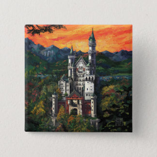 Bóton Quadrado 5.08cm Castelo Schloss Neuschwanstein