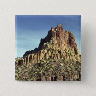Bóton Quadrado 5.08cm Cimeira da montanha da rocha