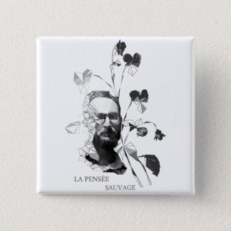 Bóton Quadrado 5.08cm Claude Levi-Strauss