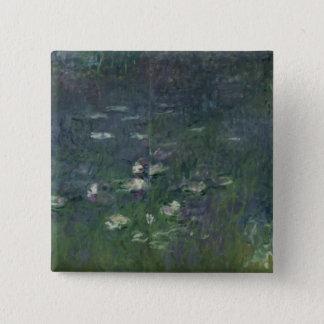 Bóton Quadrado 5.08cm Claude Monet | Waterlilies: Manhã, 1914-18