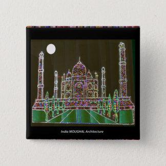 Bóton Quadrado 5.08cm Construção memorável do marco de Mughal do palácio