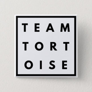 Bóton Quadrado 5.08cm Crachá quadrado engraçado da tartaruga da equipe