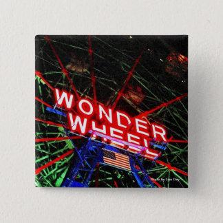 """Bóton Quadrado 5.08cm Da """"botão quadrado de néon da roda maravilha"""""""