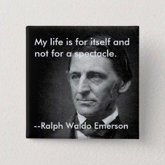 Bóton Quadrado 5.08cm Da confiança Ralph Waldo Emerson do ensaio