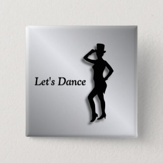 Bóton Quadrado 5.08cm Dançarino de torneira