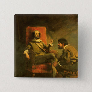 Bóton Quadrado 5.08cm Don Quixote e Sancho Panza