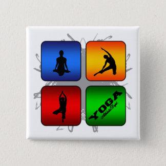 Bóton Quadrado 5.08cm Estilo urbano da ioga surpreendente