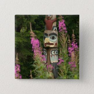 Bóton Quadrado 5.08cm EUA, Alaska, Ketchikan, estado da reentrância do