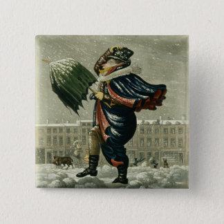 Bóton Quadrado 5.08cm Feliz Natal e um feliz ano novo em Londres,