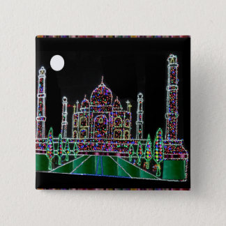 Bóton Quadrado 5.08cm Herança da arquitetura de TAJ Mahal Moghul que
