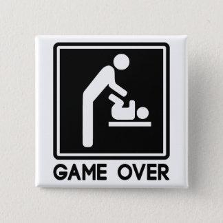 Bóton Quadrado 5.08cm Jogo sobre o bebê novo para o pai do pai