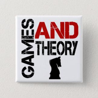 Bóton Quadrado 5.08cm Jogos & botão da teoria