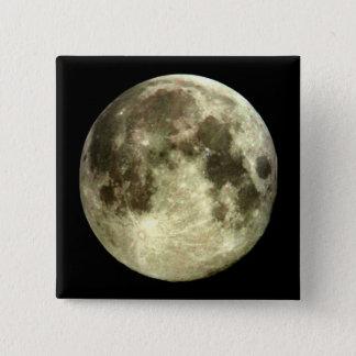 Bóton Quadrado 5.08cm Lua cheia