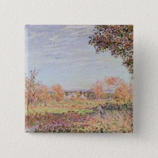 Bóton Quadrado 5.08cm Manhã de Alfred Sisley | setembro