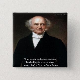 """Bóton Quadrado 5.08cm Martin Van Buren """"americanos vive"""" presentes da"""