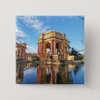 Bóton Quadrado 5.08cm O palácio de San Fransisco