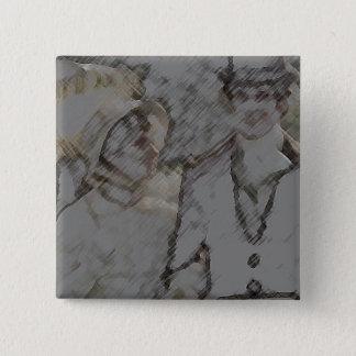 Bóton Quadrado 5.08cm Orgulho e preconceito