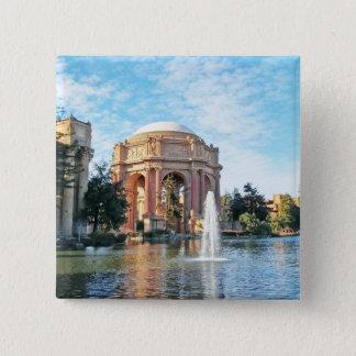 Bóton Quadrado 5.08cm Palácio das belas artes - San Francisco
