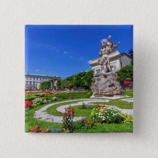 Bóton Quadrado 5.08cm Palácio de Mirabell e jardins, Salzburg, Áustria