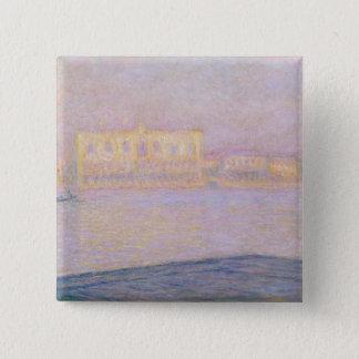 Bóton Quadrado 5.08cm Palácio Ducal de Claude Monet | de San Giorgio,