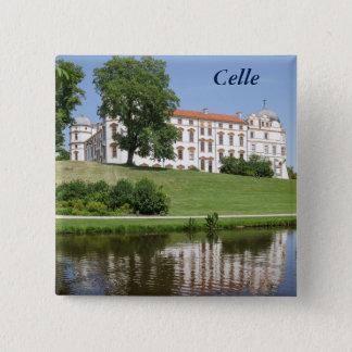 Bóton Quadrado 5.08cm Palácio Ducal em Celle