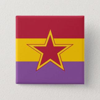 Bóton Quadrado 5.08cm Partido comunista da espanha, Colômbia política