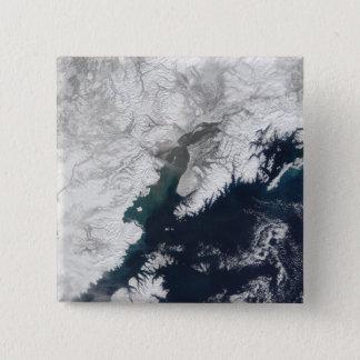 Bóton Quadrado 5.08cm Pena da cinza do Redoubt da montagem, Alaska