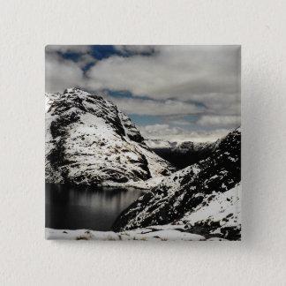 Bóton Quadrado 5.08cm Pin nevado do botão da paisagem da montanha de