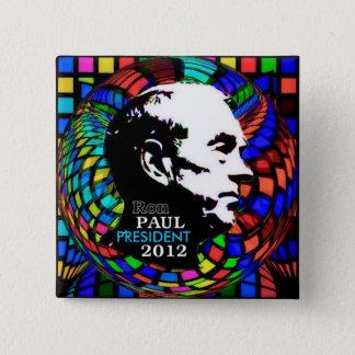 Bóton Quadrado 5.08cm Pino 2012 quadrado psicadélico de Ron Paul