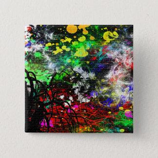 Bóton Quadrado 5.08cm Pintura abstrata