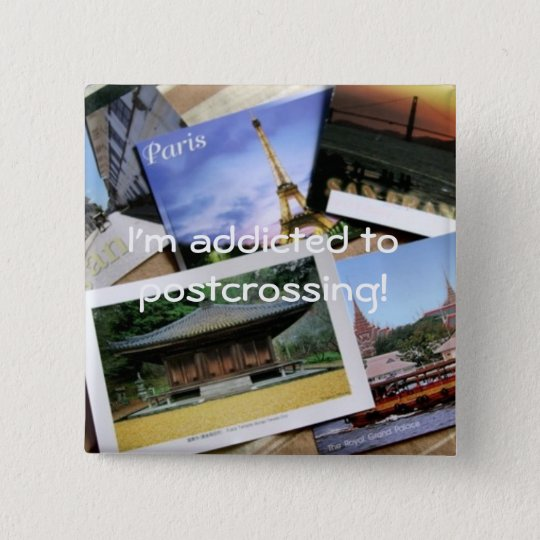 Bóton Quadrado 5.08cm Postcrossing fan badge