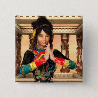 Bóton Quadrado 5.08cm Princesa de China