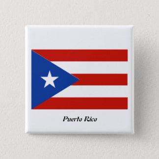 Bóton Quadrado 5.08cm Puerto Rico botão do quadrado de 2 polegadas