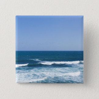 Bóton Quadrado 5.08cm Puerto Rico, San Juan velho, seascape