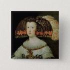 Bóton Quadrado 5.08cm Retrato da rainha Maria Anna da espanha