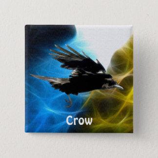 Bóton Quadrado 5.08cm Série dos pássaros dos animais selvagens do corvo