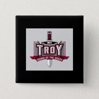 Bóton Quadrado 5.08cm Som de Troy do botão quadrado sul