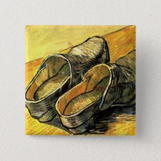 Bóton Quadrado 5.08cm Van Gogh; Um par das obstruções de couro