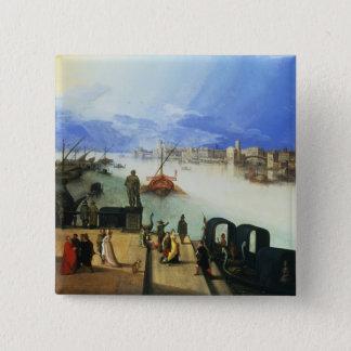 Bóton Quadrado 5.08cm Vista de Veneza