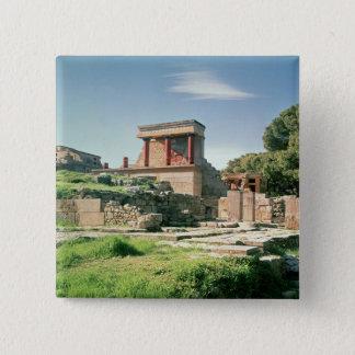 Bóton Quadrado 5.08cm Vista do palácio de Knossos