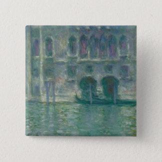 Bóton Quadrado 5.08cm Vista panorâmica de Claude Monet | do