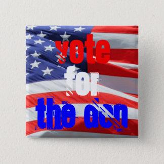 Bóton Quadrado 5.08cm Voto para o Don, eleições presidenciais