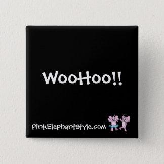 Bóton Quadrado 5.08cm WooHoo botão
