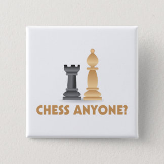 Bóton Quadrado 5.08cm Xadrez qualquer um partes de xadrez