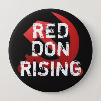 """Bóton Redondo 10.16cm """"Ascensão vermelha engraçada do alvorecer"""" com"""