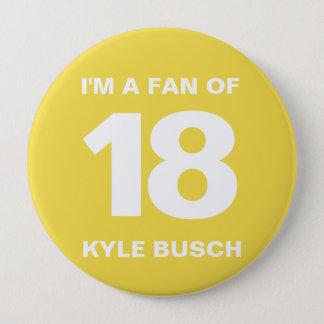 Bóton Redondo 10.16cm Botão | 4 do fã de Kyle Busch DENTRO. Botão
